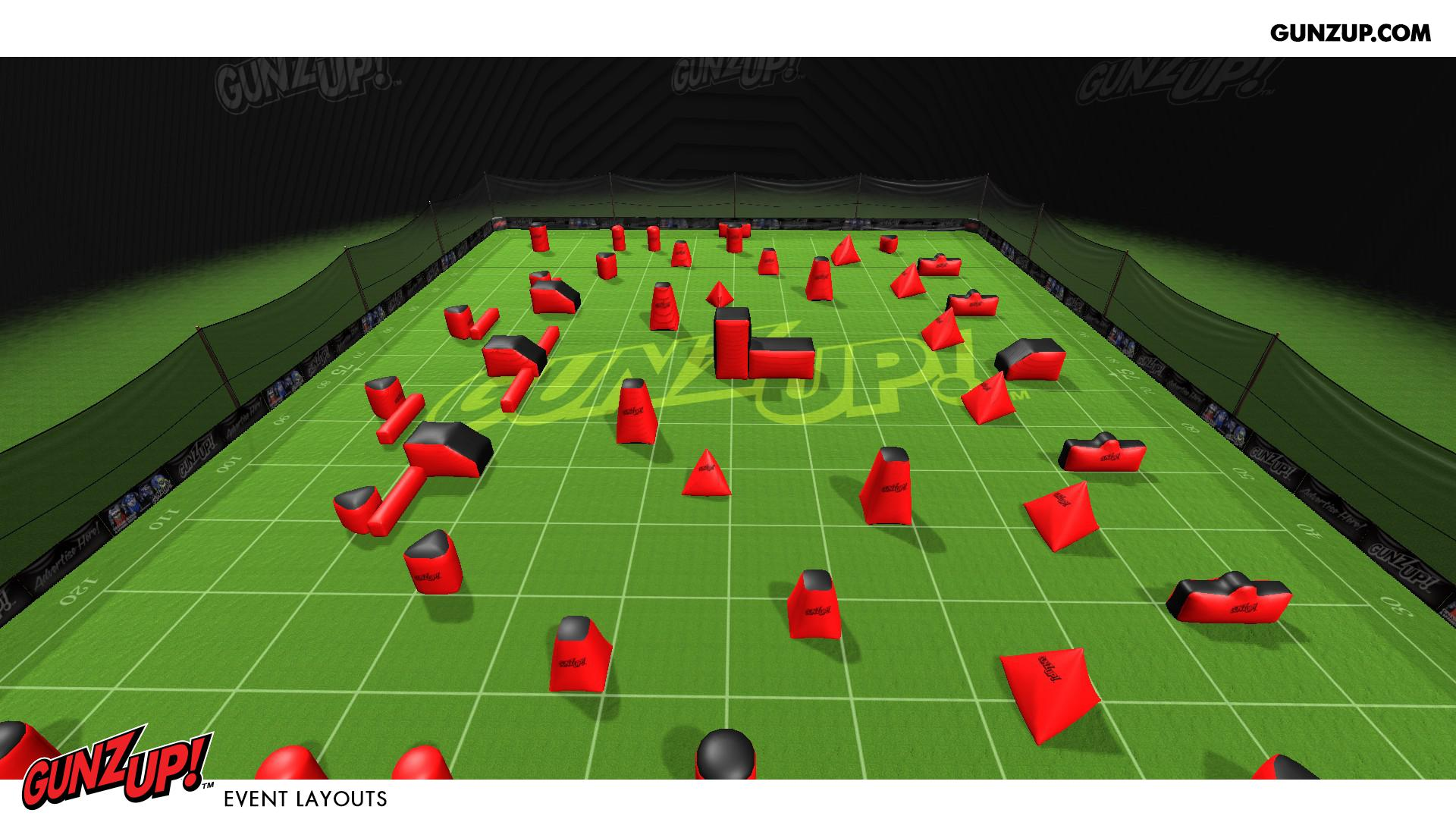 GunzUp! Paintball   Official Event Layouts to Scale   OPL